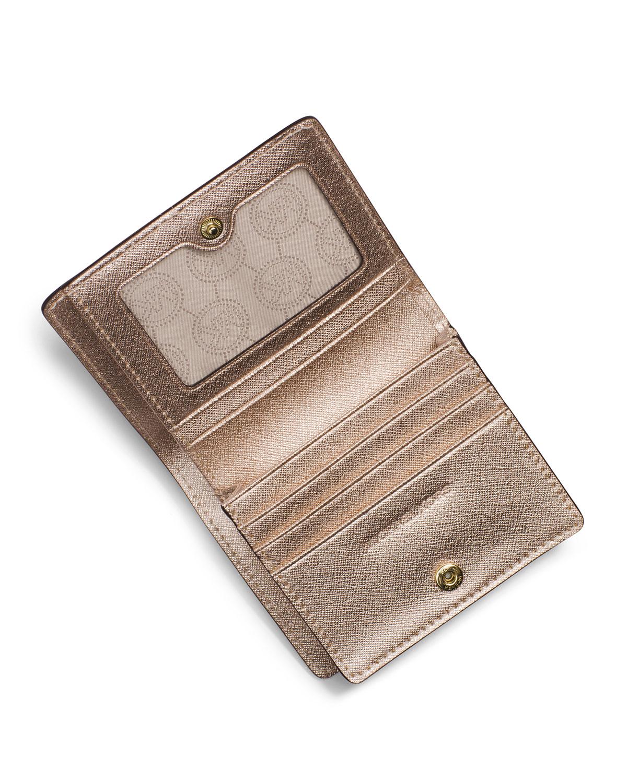 0d86ebe08d44 Michael Kors Michael Jet Set Travel Flap Card Holder in Metallic - Lyst