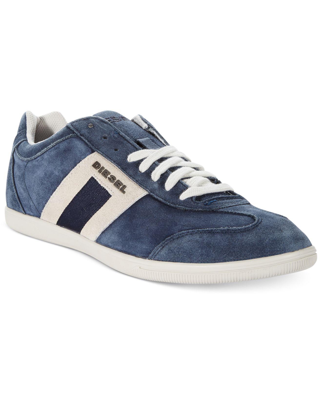 Diesel Shoes Happy Hours Vintagy Lounge Sneakers In Blue