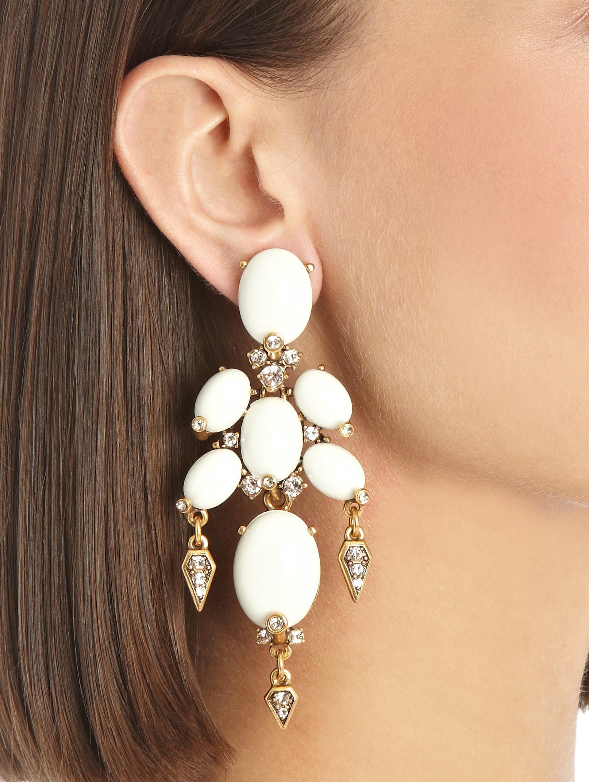 Oscar De La Renta Pearl Earrings in Metallics g9NGjV8dOM