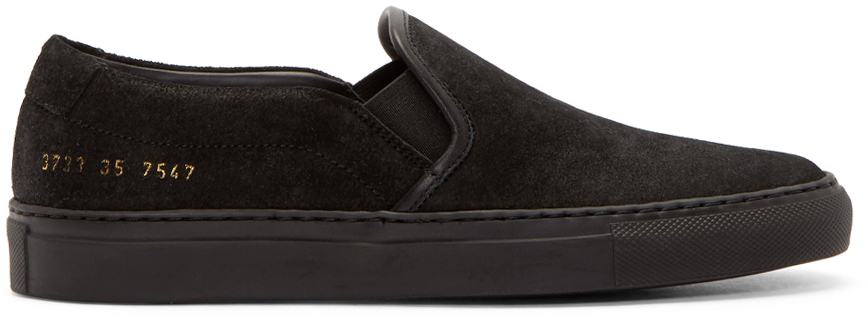 Common ProjectsBlack suede slip on sneakers