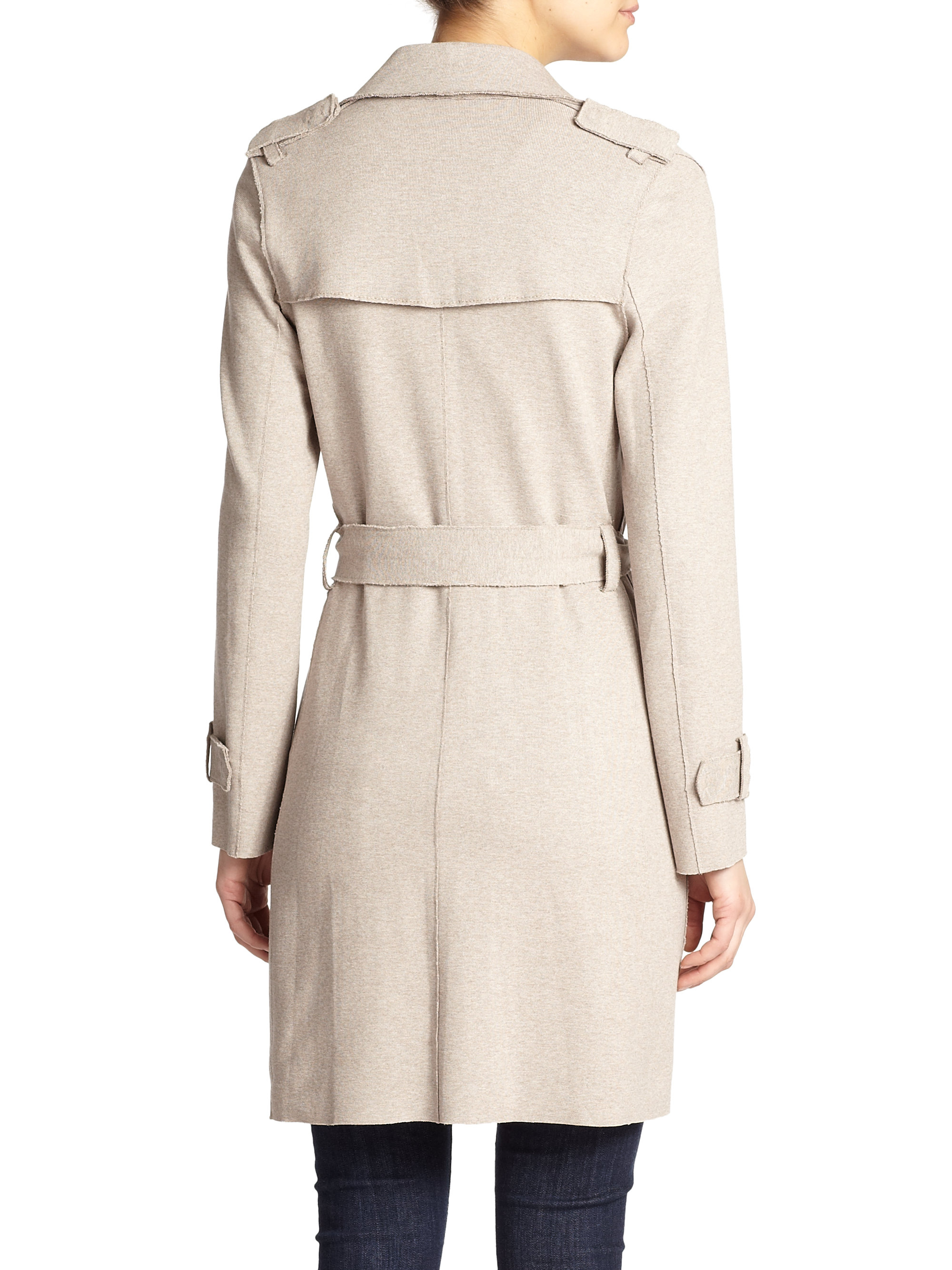 7854a6df41fcf Lyst - Harris Wharf London Stretch Trenchcoat in Natural