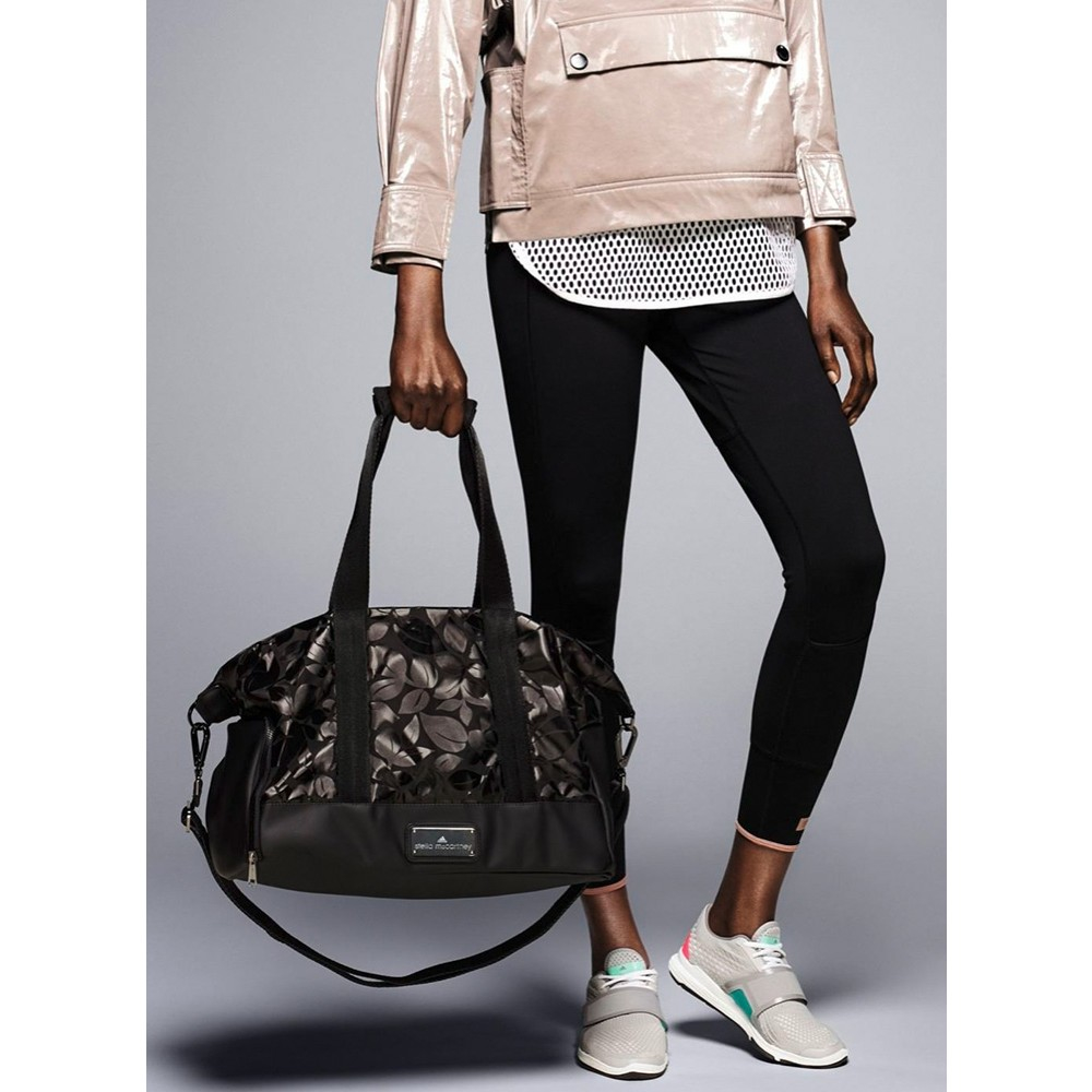 57b76bfa57 Lyst - adidas By Stella McCartney Small Printed Gym Bag in Black