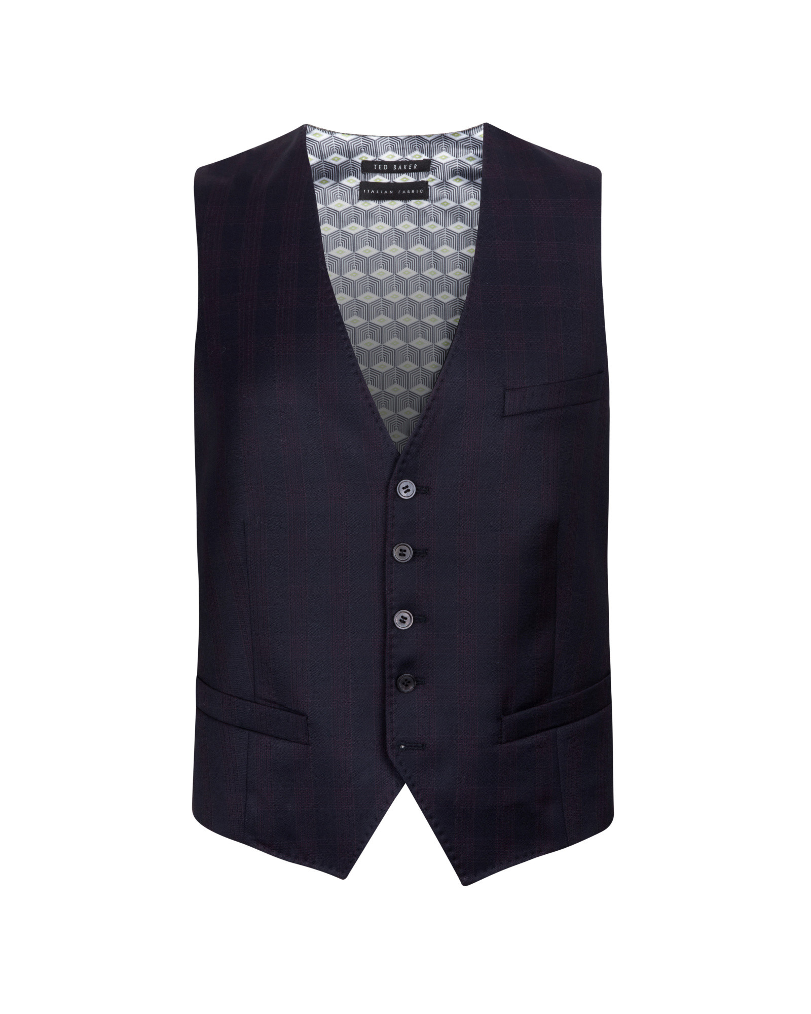 6a25144d83d5 Lyst - Ted Baker Debonair Wool Vest in Purple for Men