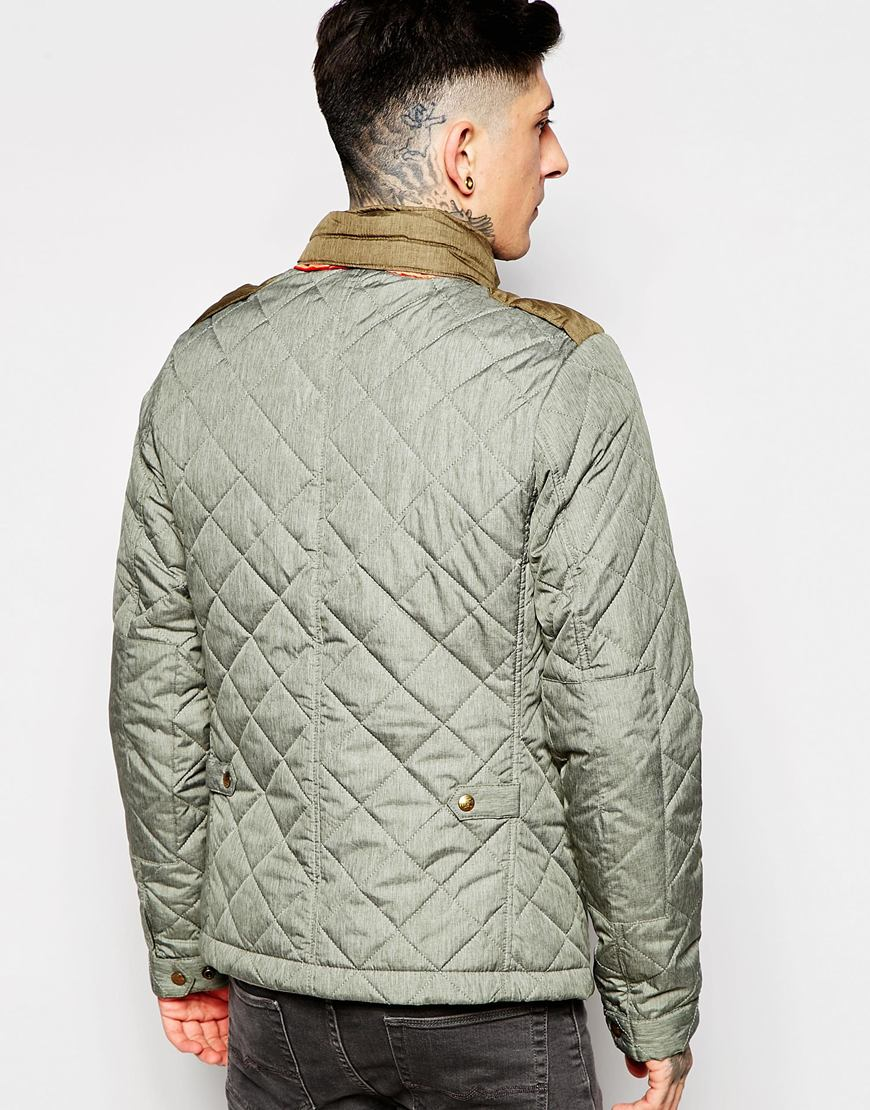 scotch soda quilted jacket in green for men lyst. Black Bedroom Furniture Sets. Home Design Ideas