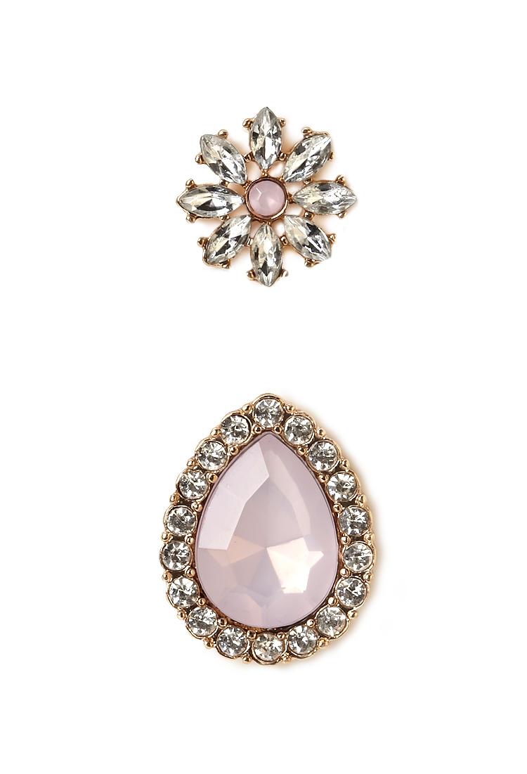 Forever 21 Jewelry Earrings Of Forever 21 Elegant Faux Stone Earrings In Metallic Lyst