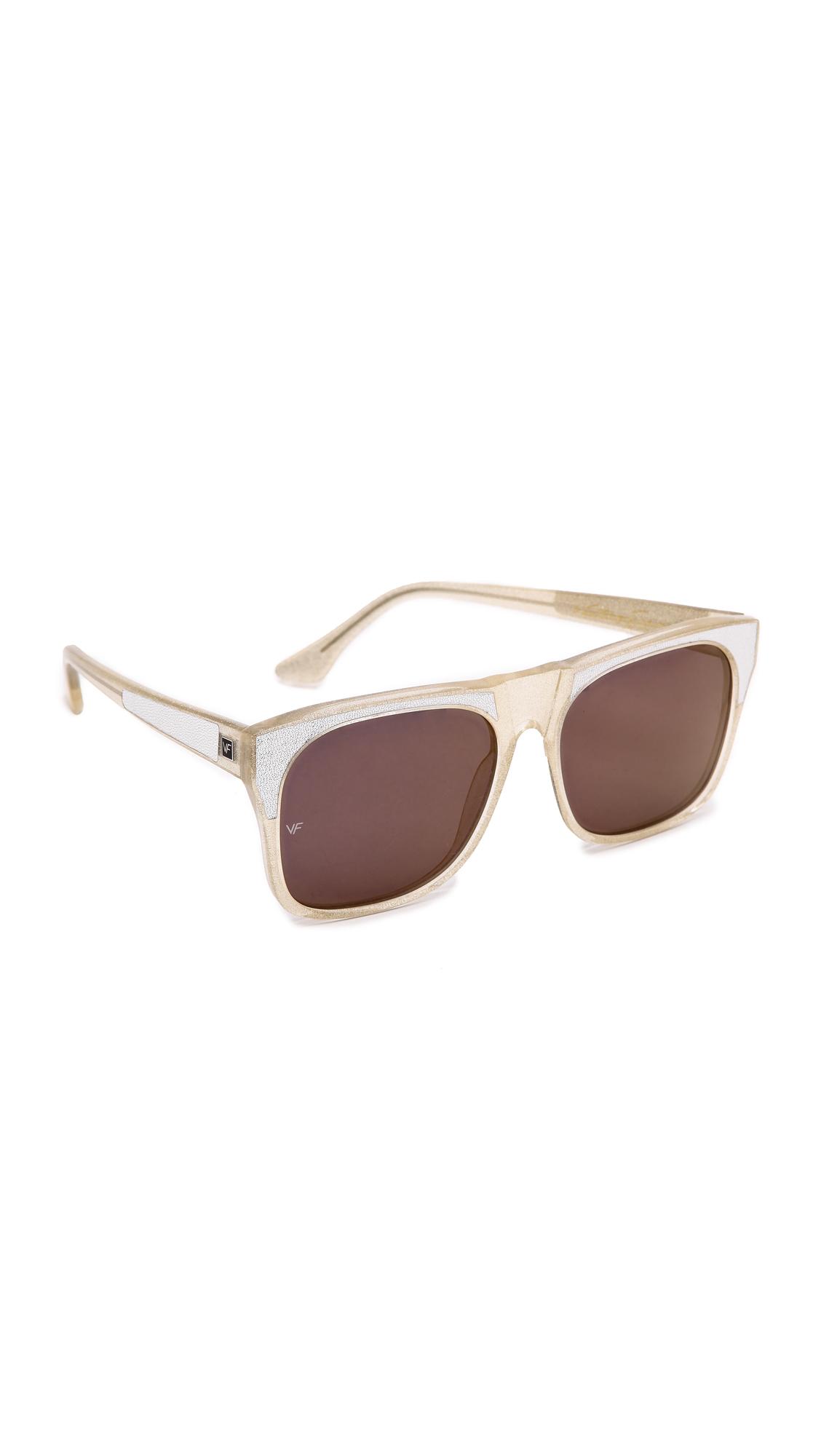81697ebaf2d0 Lyst - Vintage Frames Company Rude Sunglasses - Silver/Gold in Metallic