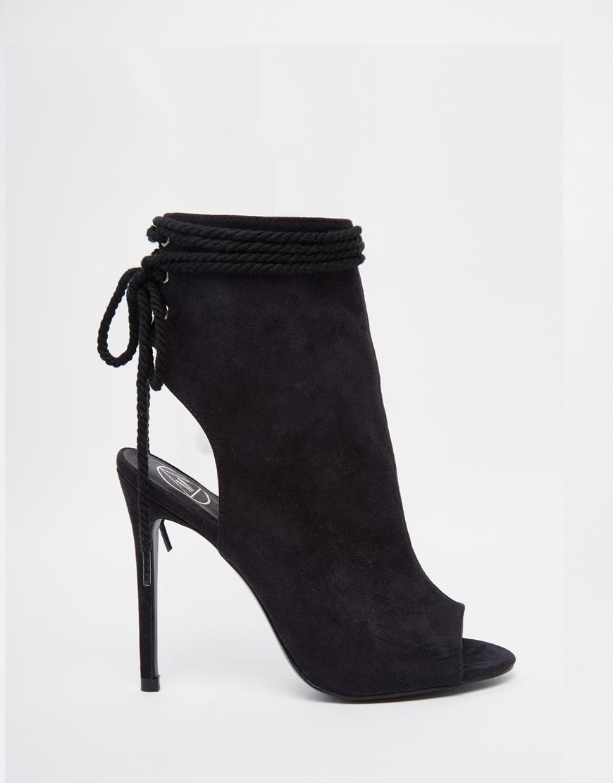 Peep Toe Black Shoes Newlook