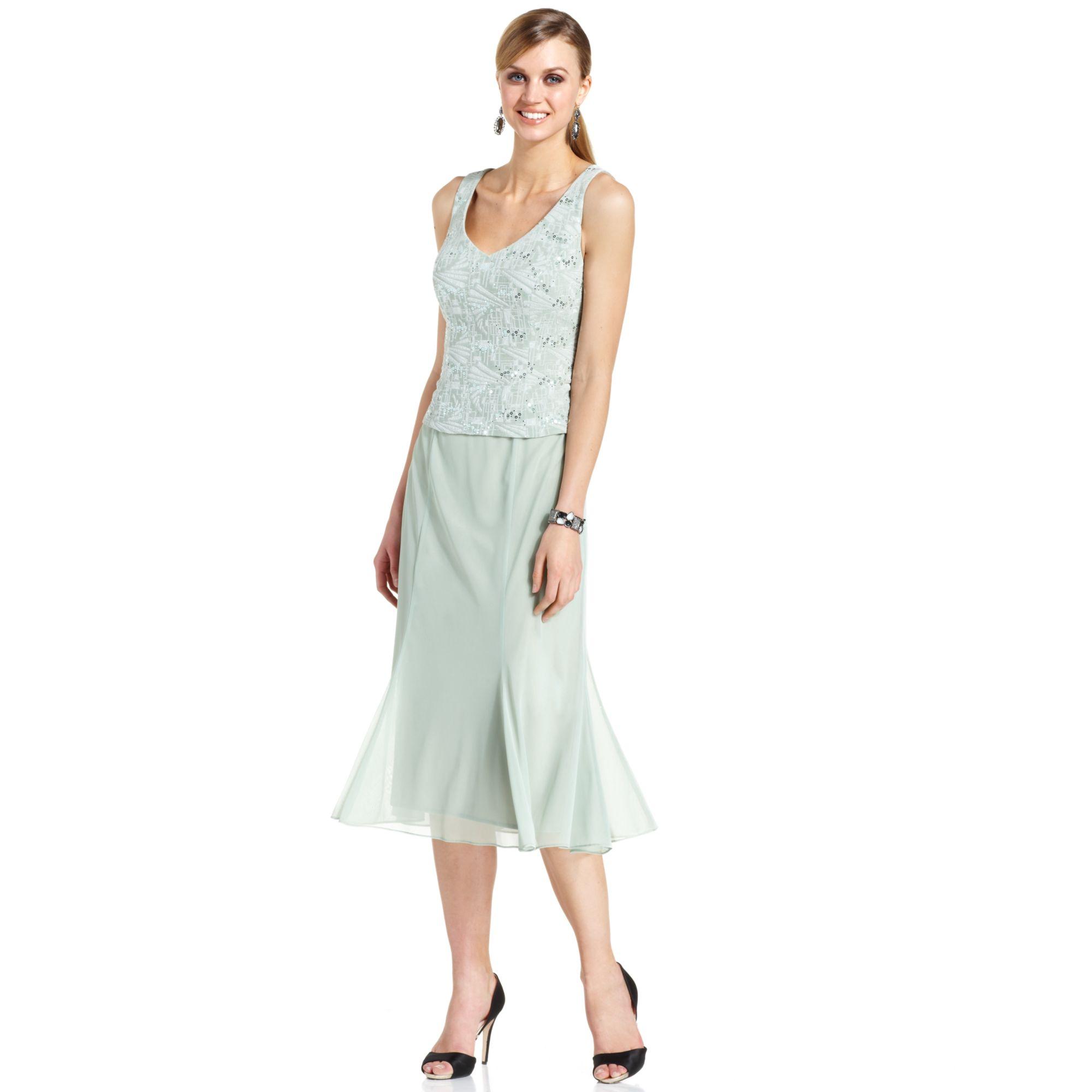 Lyst - Alex evenings Sleeveless Sequin Jacquard Dress And