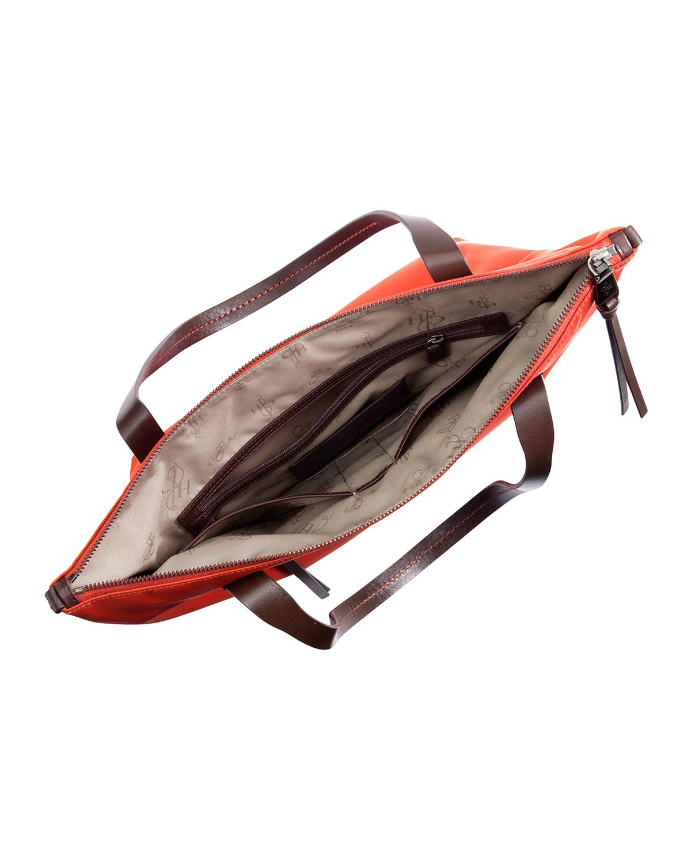 Cole haan Parker Small Nylon Ziptop Tote Bag Orange in Orange | Lyst