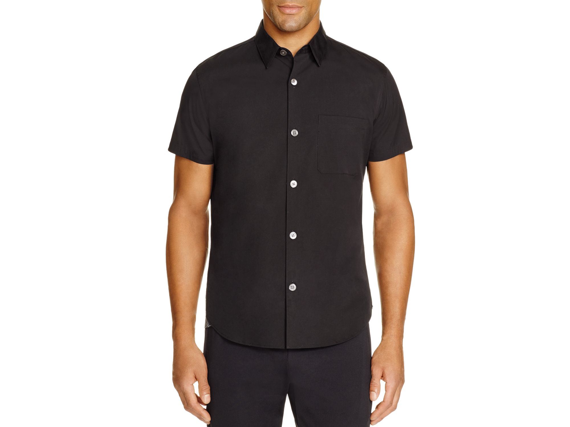 Slim Fit Button Down Short Sleeve Shirts | Artee Shirt