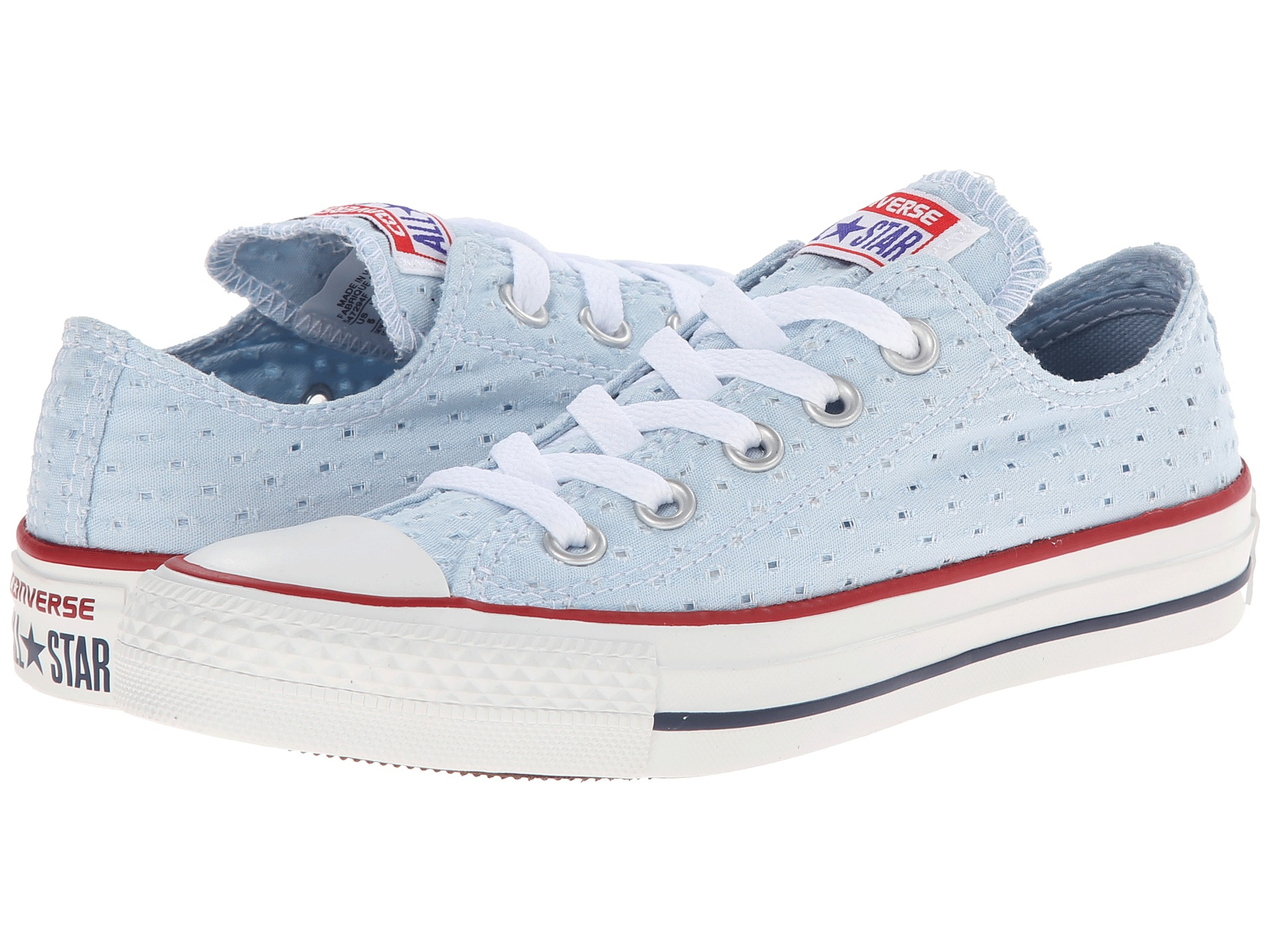 Lyst - Converse Chuck Taylor® All Star® Perfed Canvas Ox in Blue 248131ea4