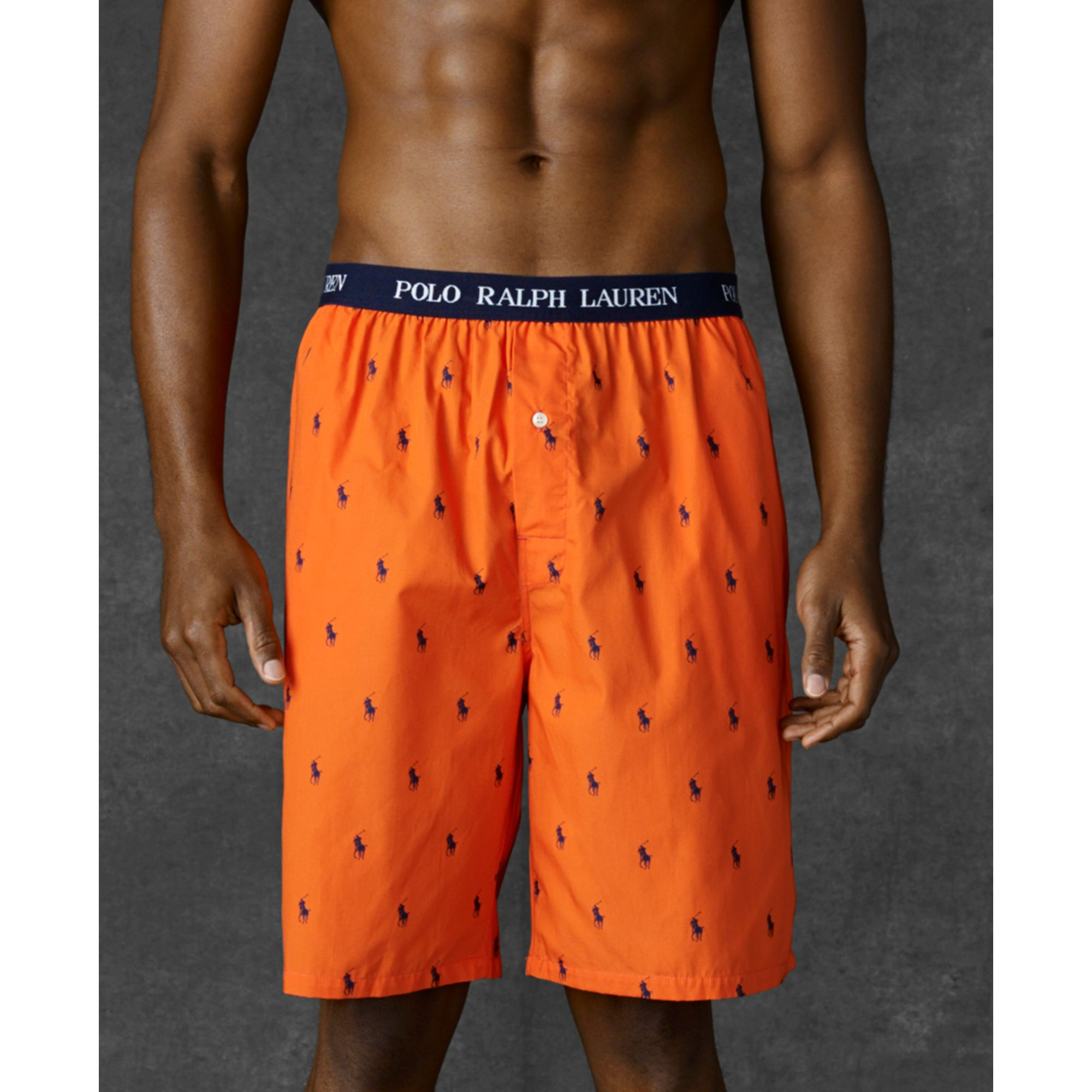 caad05dd12b3 Lyst - Ralph Lauren Polo Mens Polo Player Shorts in Orange for Men