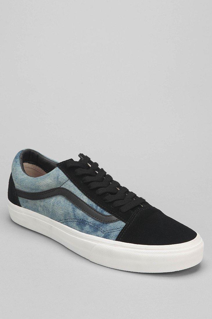 c99eb93ff63 Lyst - Vans Old Skool Bleached Mens Denim Sneaker in Black for Men