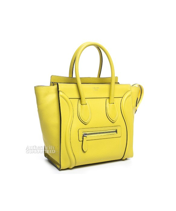 celine yellow luggage tote