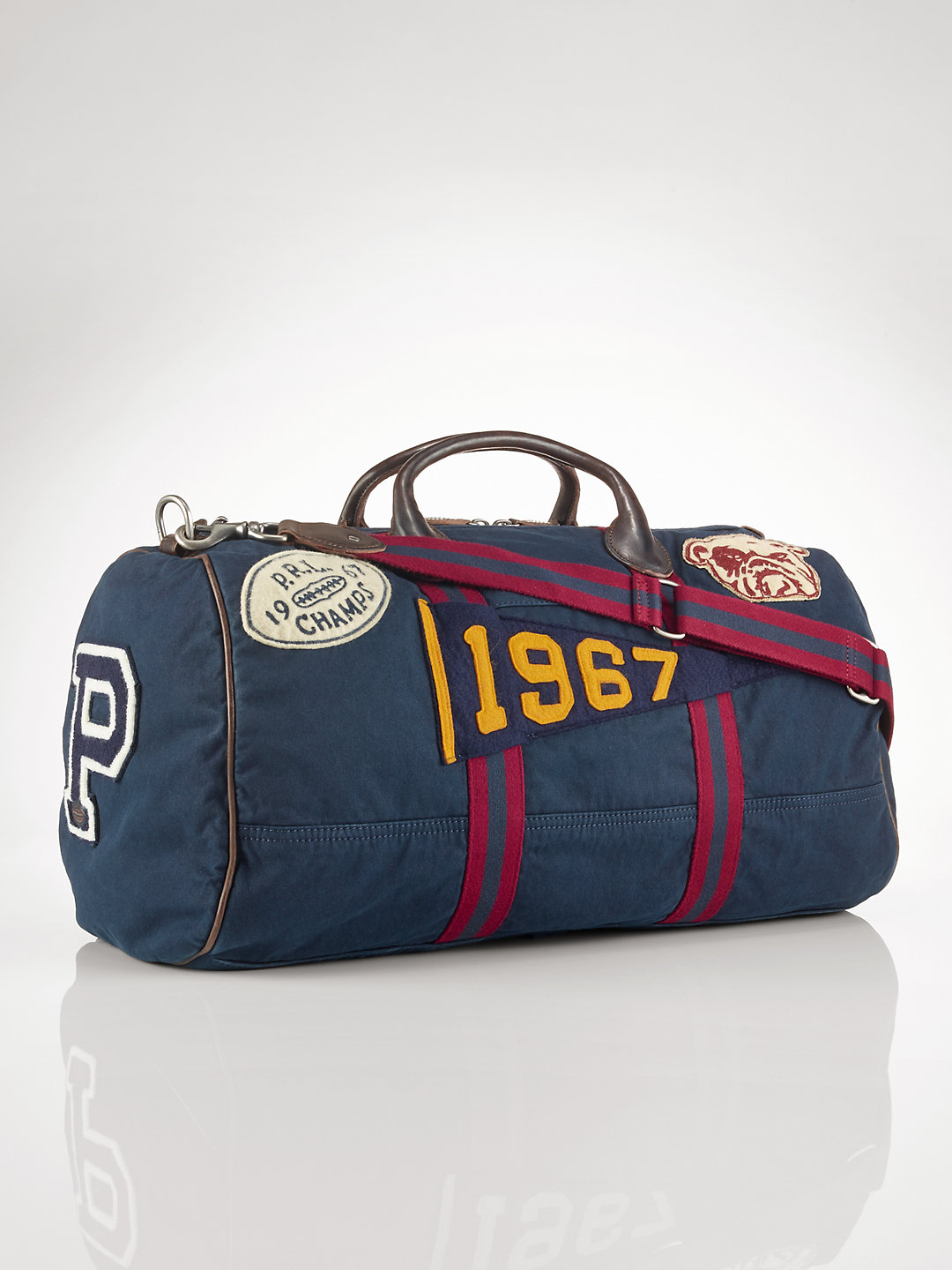 873e0ce50f ... cheap lyst polo ralph lauren canvas stadium duffel bag in blue for men  d30ef b275c