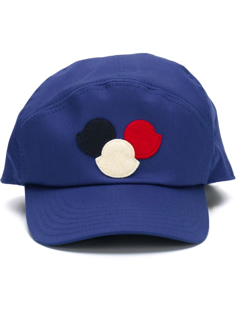 33dc4c736a7b Lyst - Moncler Logo Patch Cap in Blue for Men