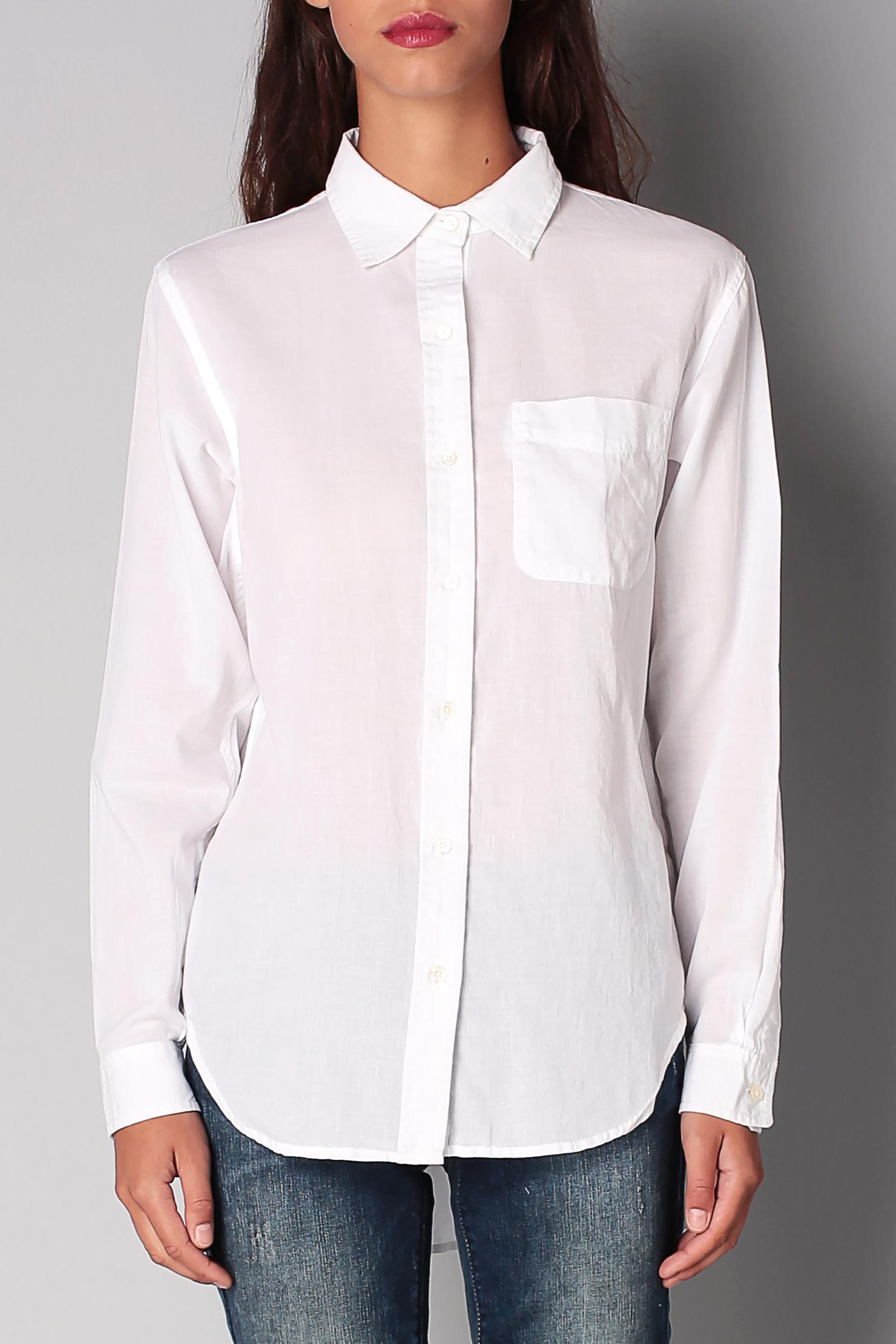denim supply ralph lauren shirt blouse in white lyst. Black Bedroom Furniture Sets. Home Design Ideas