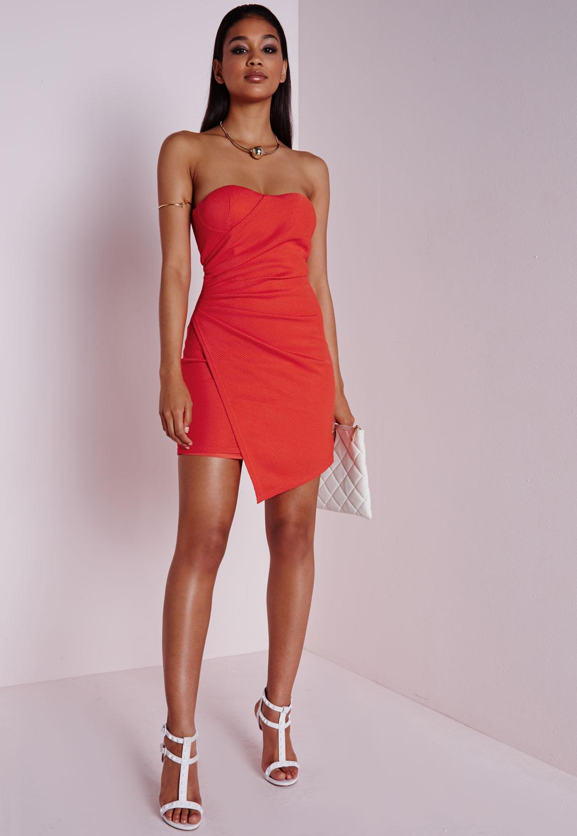 Strapless Asymmetrical Dress