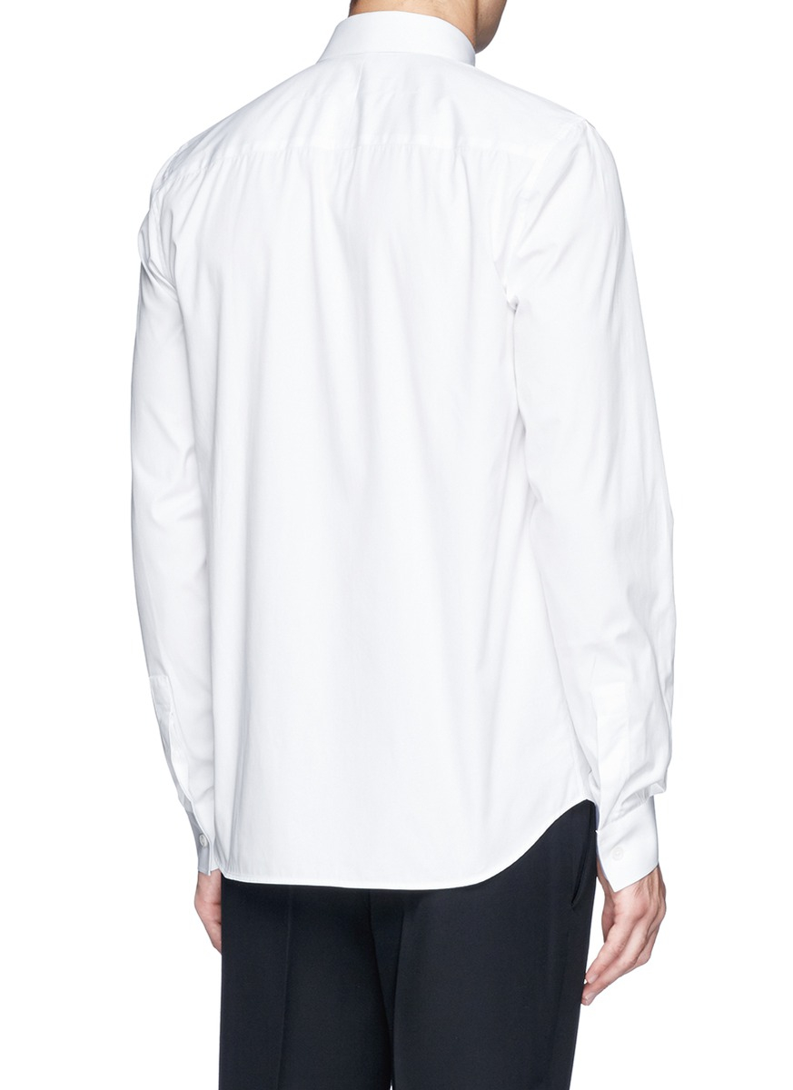 lyst givenchy 39 17 39 metal plate poplin shirt in white for men. Black Bedroom Furniture Sets. Home Design Ideas