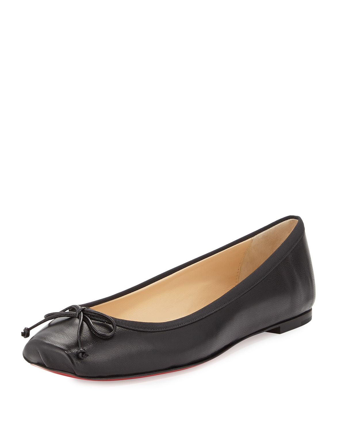 Lyst Christian Louboutin Square Toe Ballerina Flat In Black