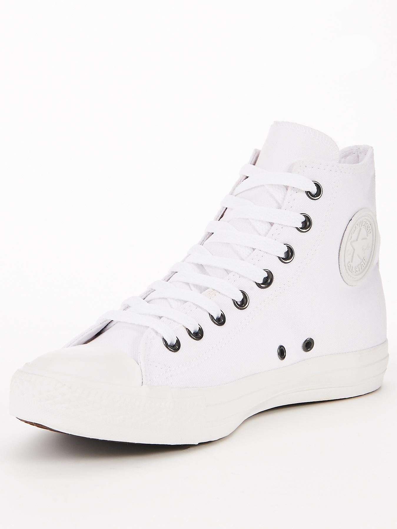 All star converse white high tops