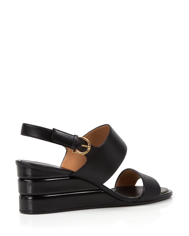94571dc6bde3 Lyst - Ferragamo Open Toe Slingback Wedge Sandals - My Happiness in ...