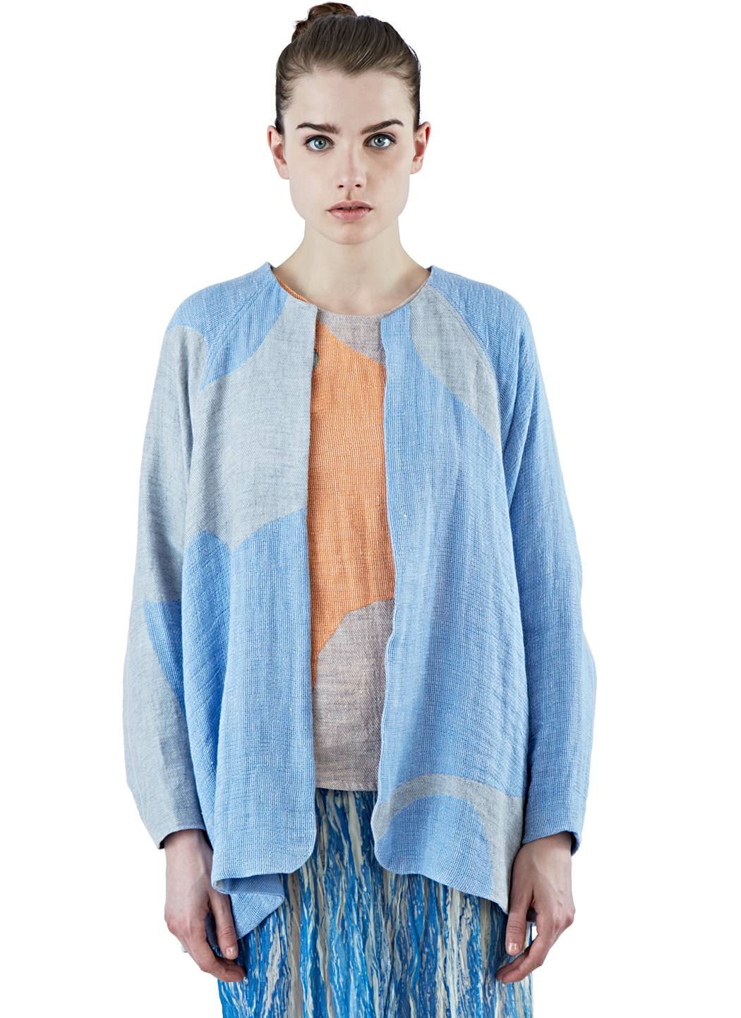 The autonomous collections Women's Oversized Patchwork Cardigan In ...