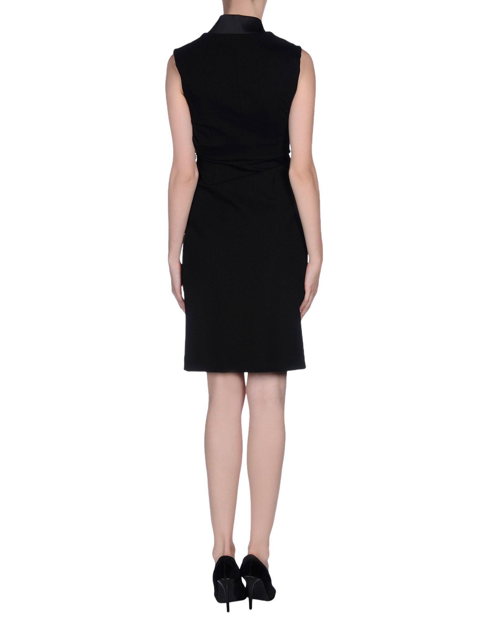 lyst hotel particulier knee length dress in black. Black Bedroom Furniture Sets. Home Design Ideas