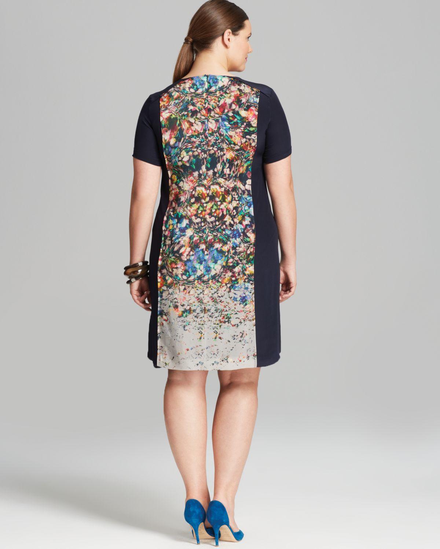 Lyst Marina Rinaldi Plus Domenica Dress In Gray