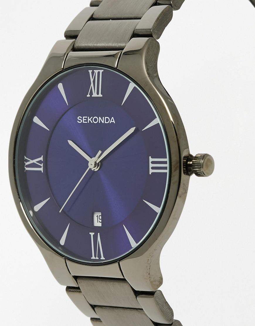 Lyst sekonda watch in black stainless steel 1140 in black for men for Sekonda watches