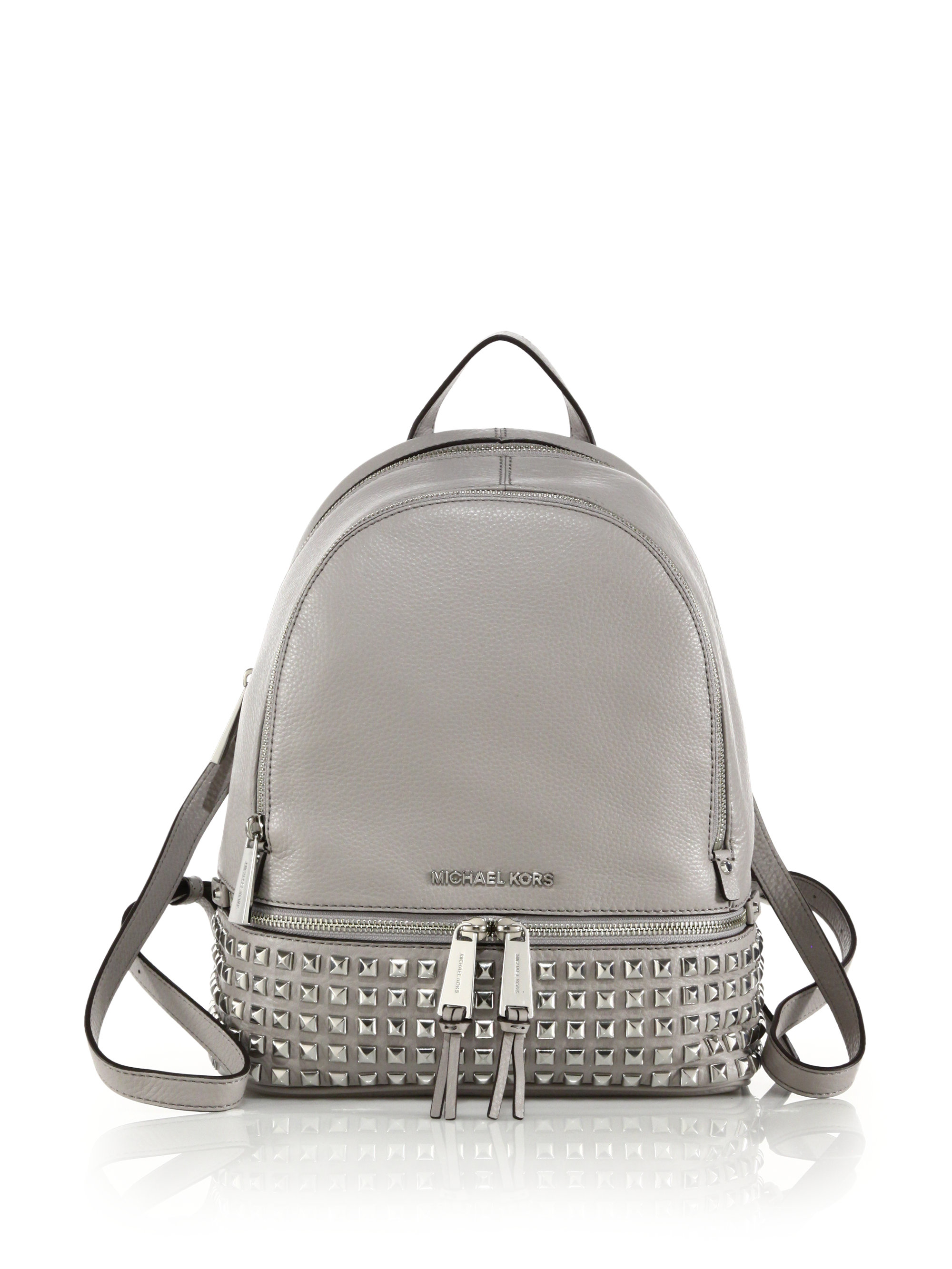 michael kors backpack black and silver mkdiscount. Black Bedroom Furniture Sets. Home Design Ideas