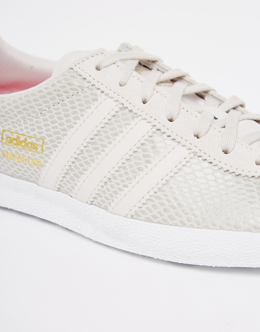 b3efe141f0cea6 Adidas Originals Originals Gazelle Grey Trainers in Gray - Lyst
