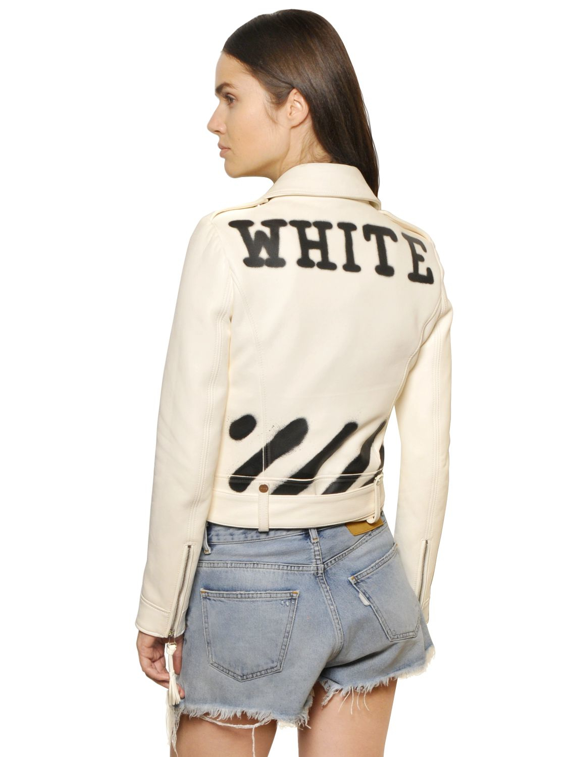Off White Spring Summer 2017 Women S Collection: Off-White C/O Virgil Abloh Spray Paint Print Smooth