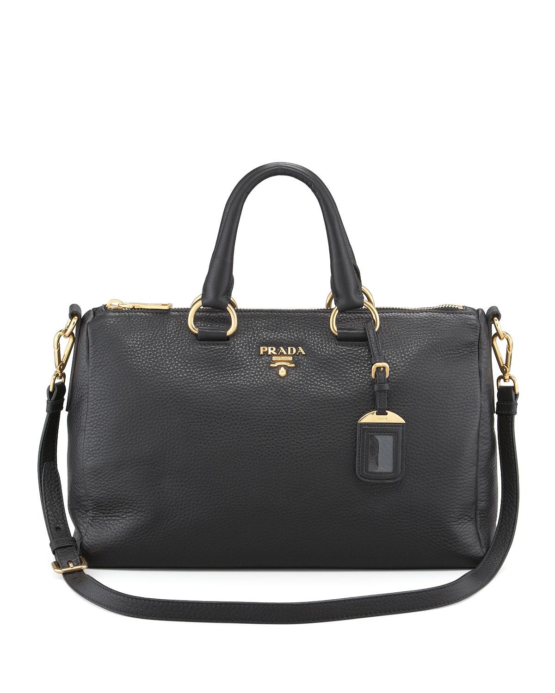 ... get lyst prada vitello daino east west tote bag in black 3c8f6 bb4c0 ... 21889881f7