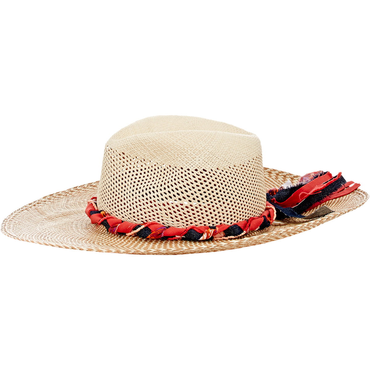 Lyst - House of Lafayette Cutout-crown Panama Hat in Natural d022d0f60098