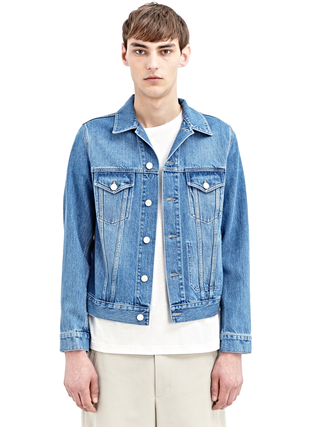 Acne Jam Lt Vintage Denim Jacket in Blue for Men | Lyst