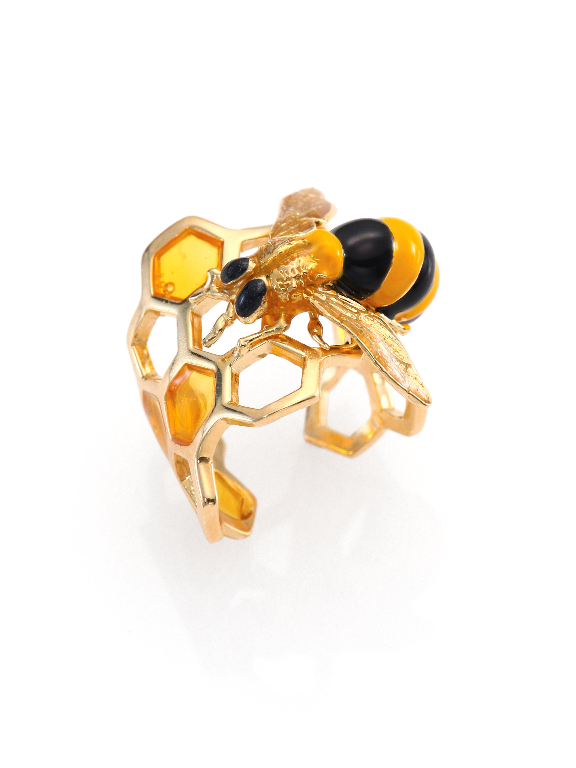 Delfina Delettrez To Bee Or Not To Be Honeycomb Ring In