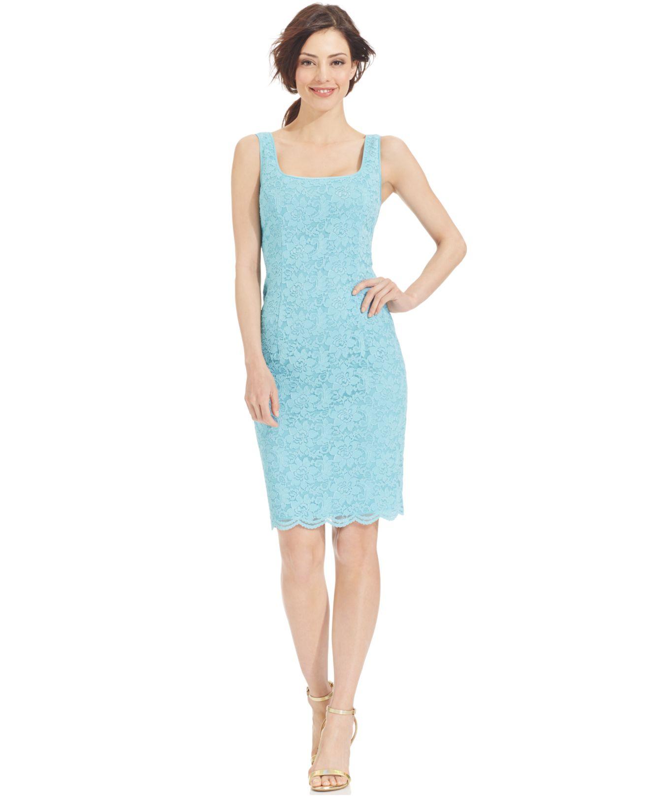 Alex Evenings Lace Sheath Dress