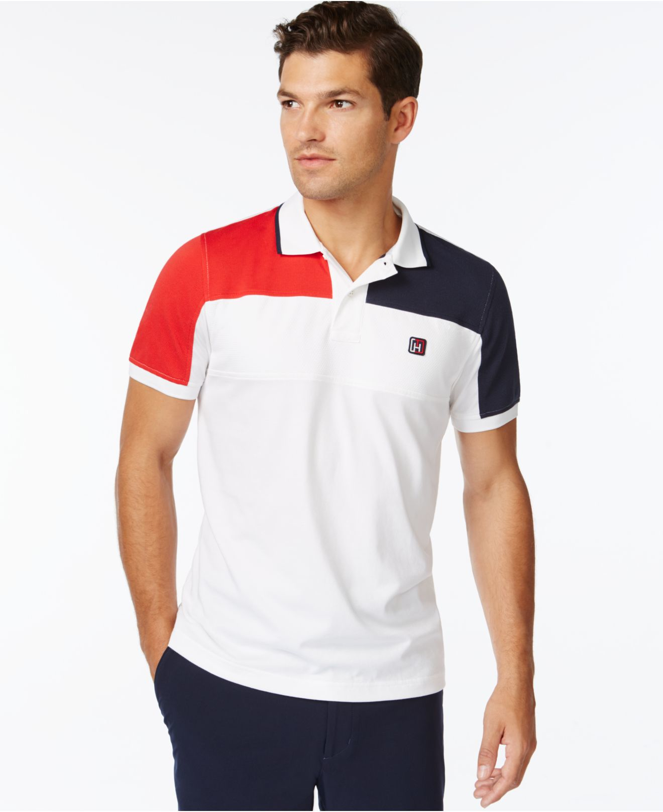 Lyst Tommy Hilfiger Upton Athletic Polo Shirt In White For Men