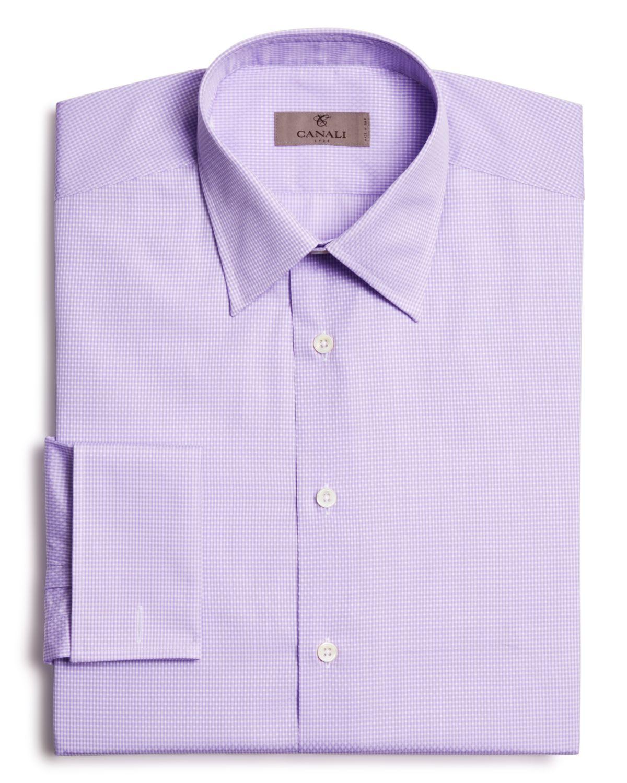 ce352197a68 Canali Textured Mini Gingham Check Button Down Dress Shirt - Regular ...