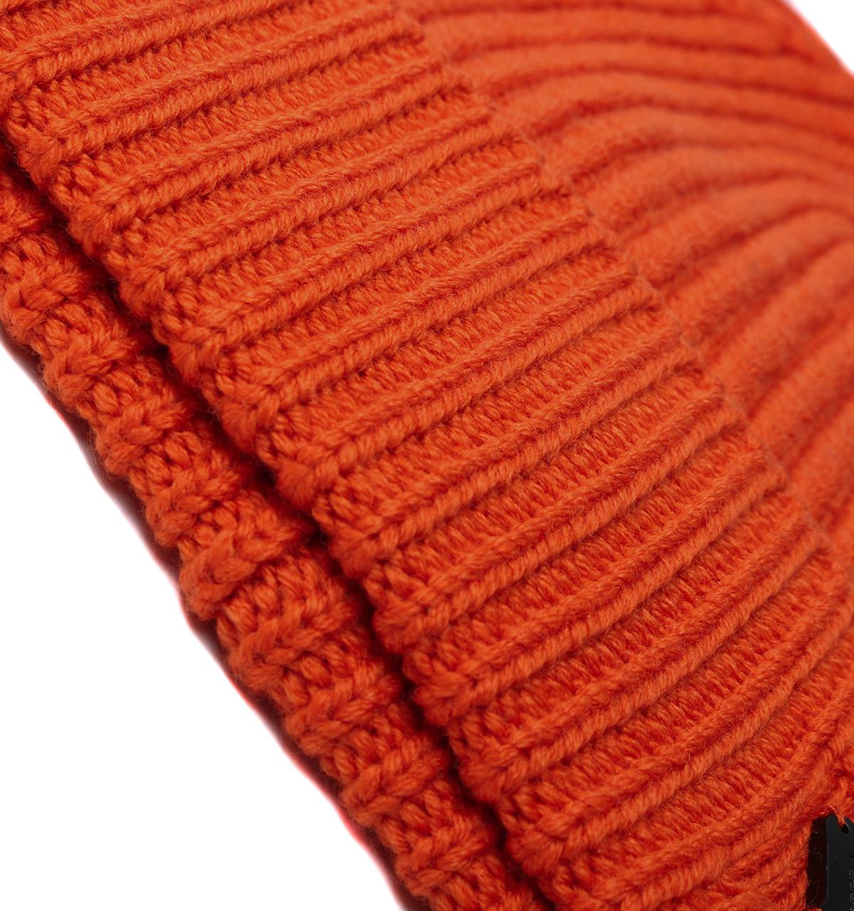 0e0d5f51e00 Armani Jeans - Orange Woollen Rib Knit Beanie Hat for Men - Lyst. View  fullscreen