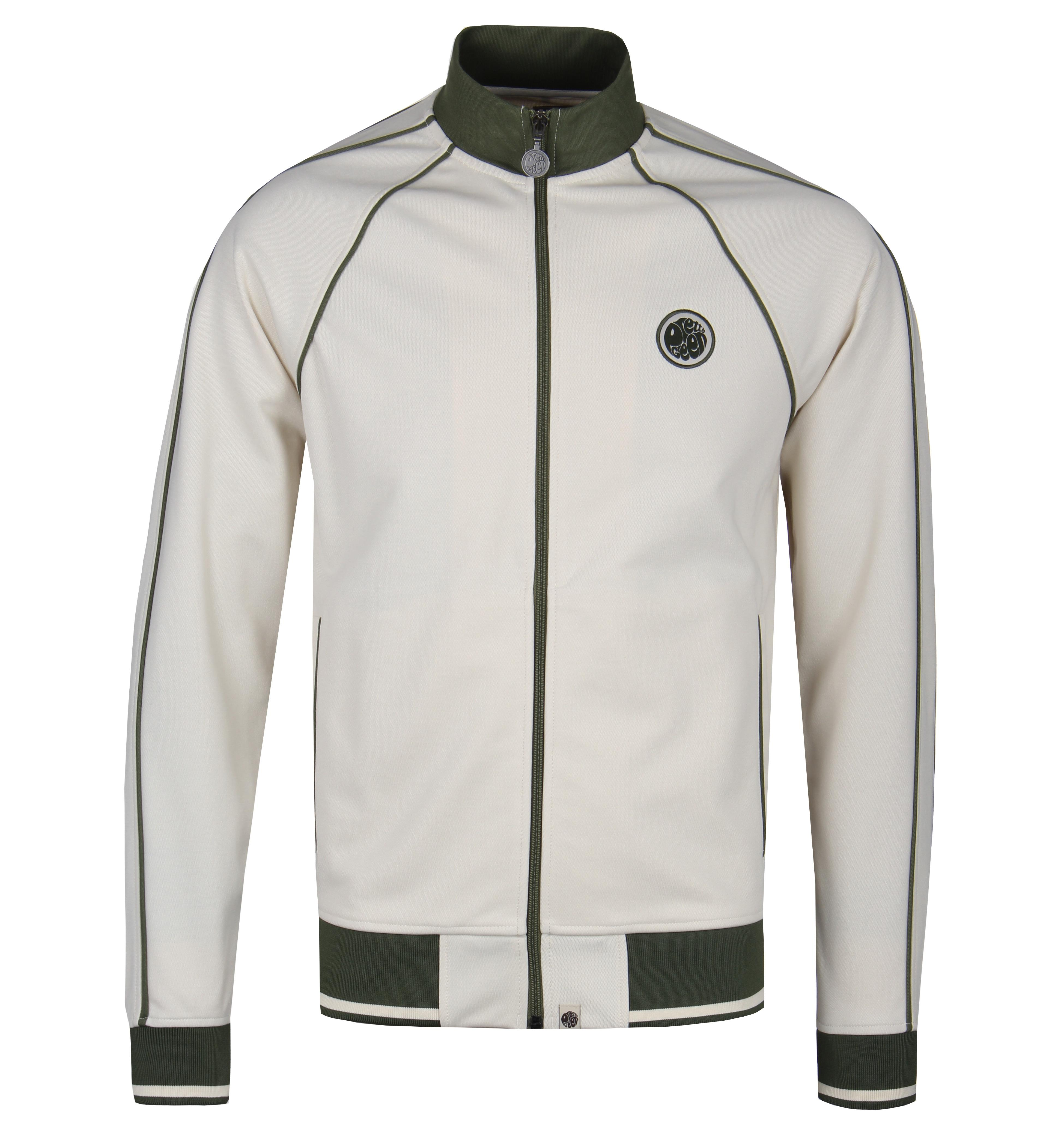 35fc181f12b Lyst - Pretty Green Stone Beige Contrast Piping Track Top in Natural ...