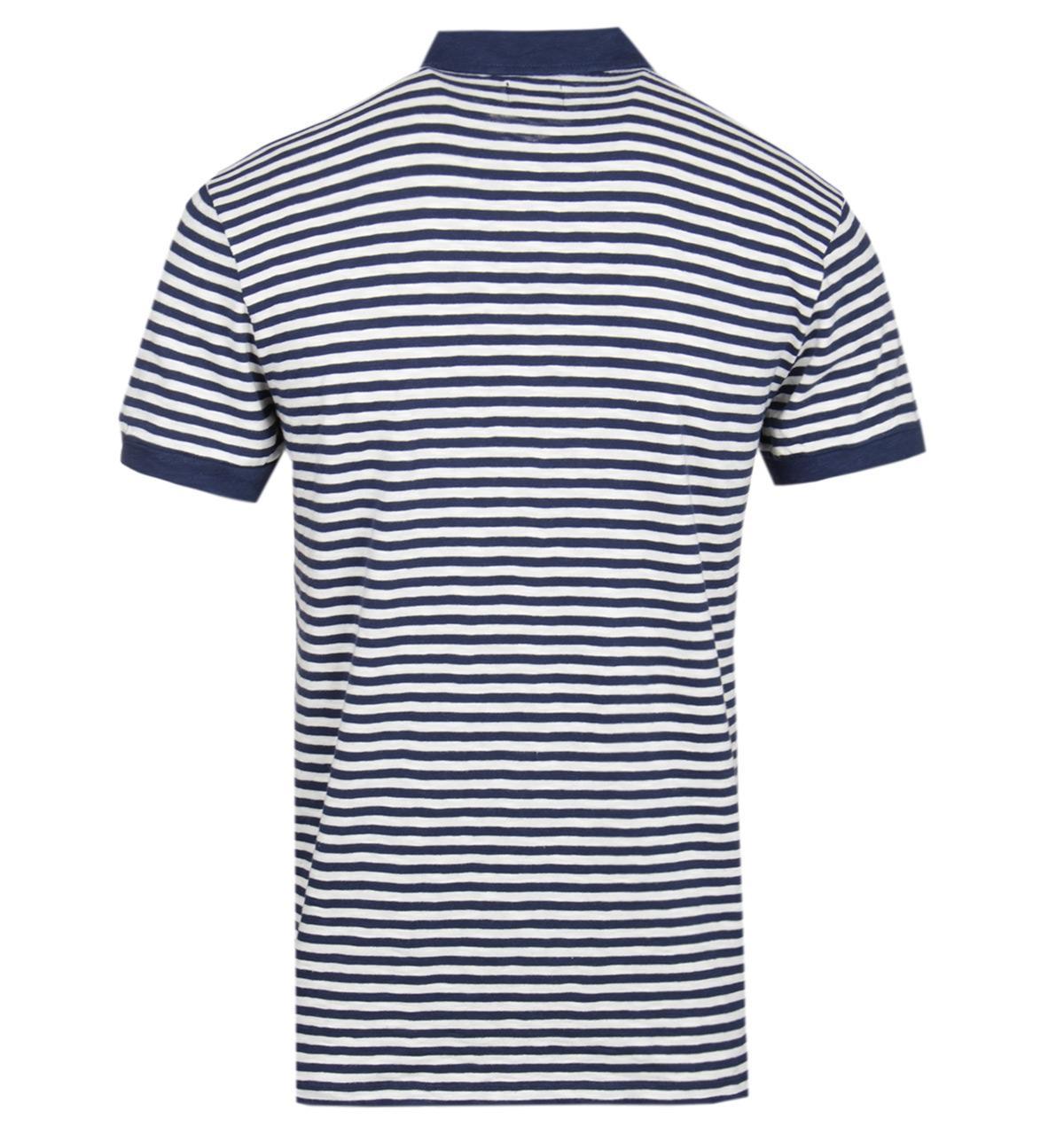 131a02d5 Edwin - Blue Flipper '50s Navy & Ecru Polo Shirt for Men - Lyst. View  fullscreen