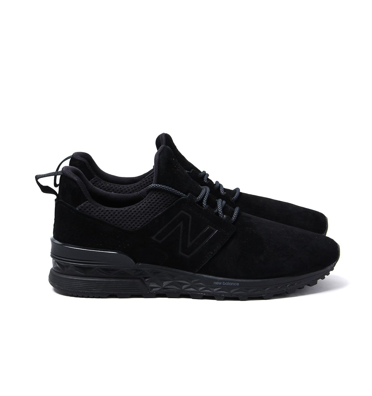 online retailer 5a24a 36dc2 ... new arrivals new balance 574 tonal black suede trainers for men lyst. view  fullscreen 0fcfc