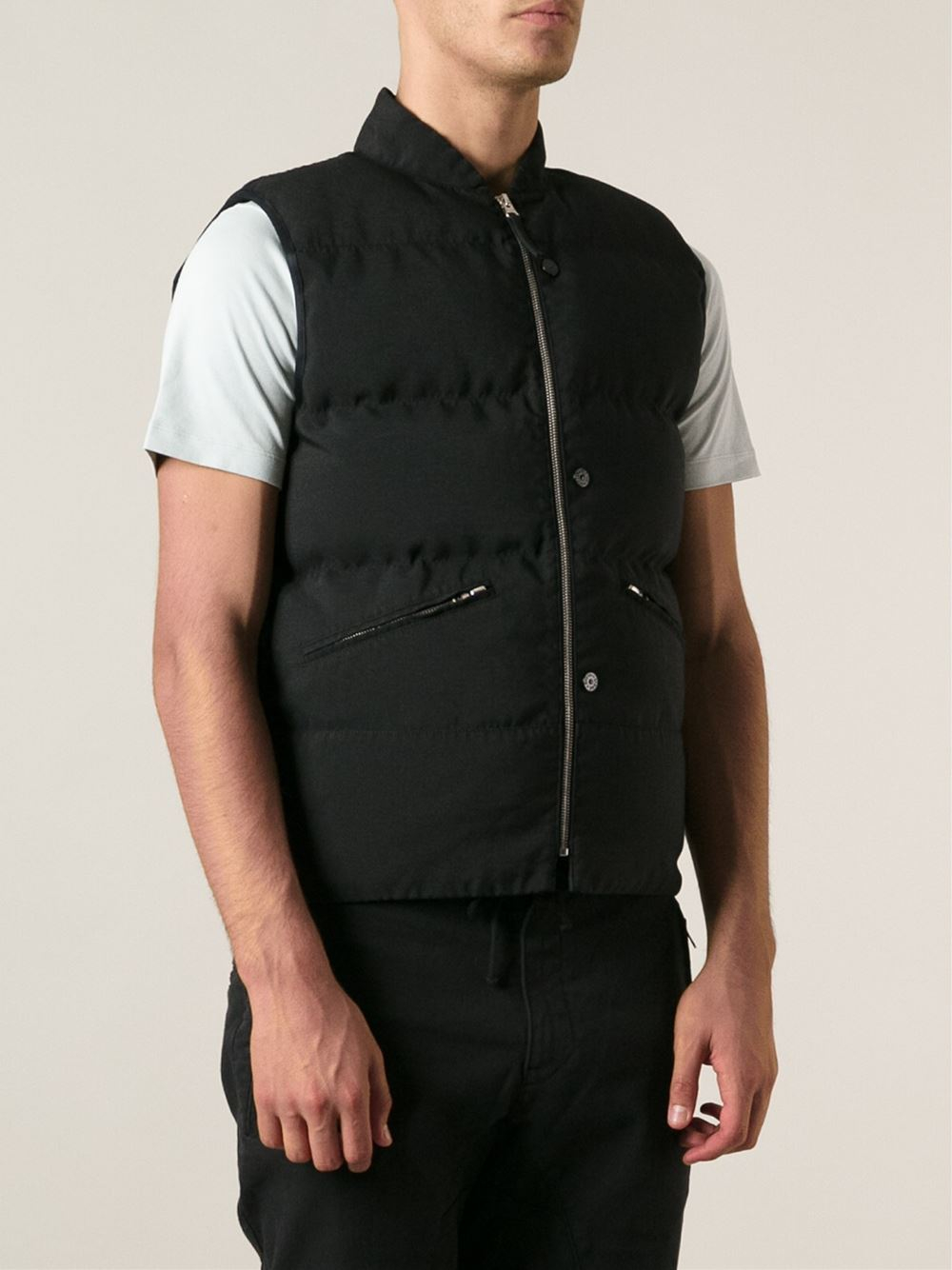 Stone Island Padded Vest In Black For Men Lyst