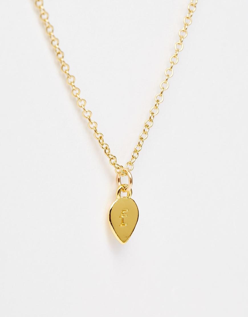 gorjana alphabet f necklace in metallic lyst