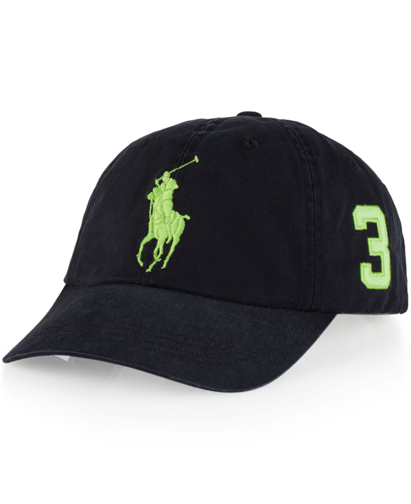 polo ralph lauren classic chino sports cap in black for. Black Bedroom Furniture Sets. Home Design Ideas