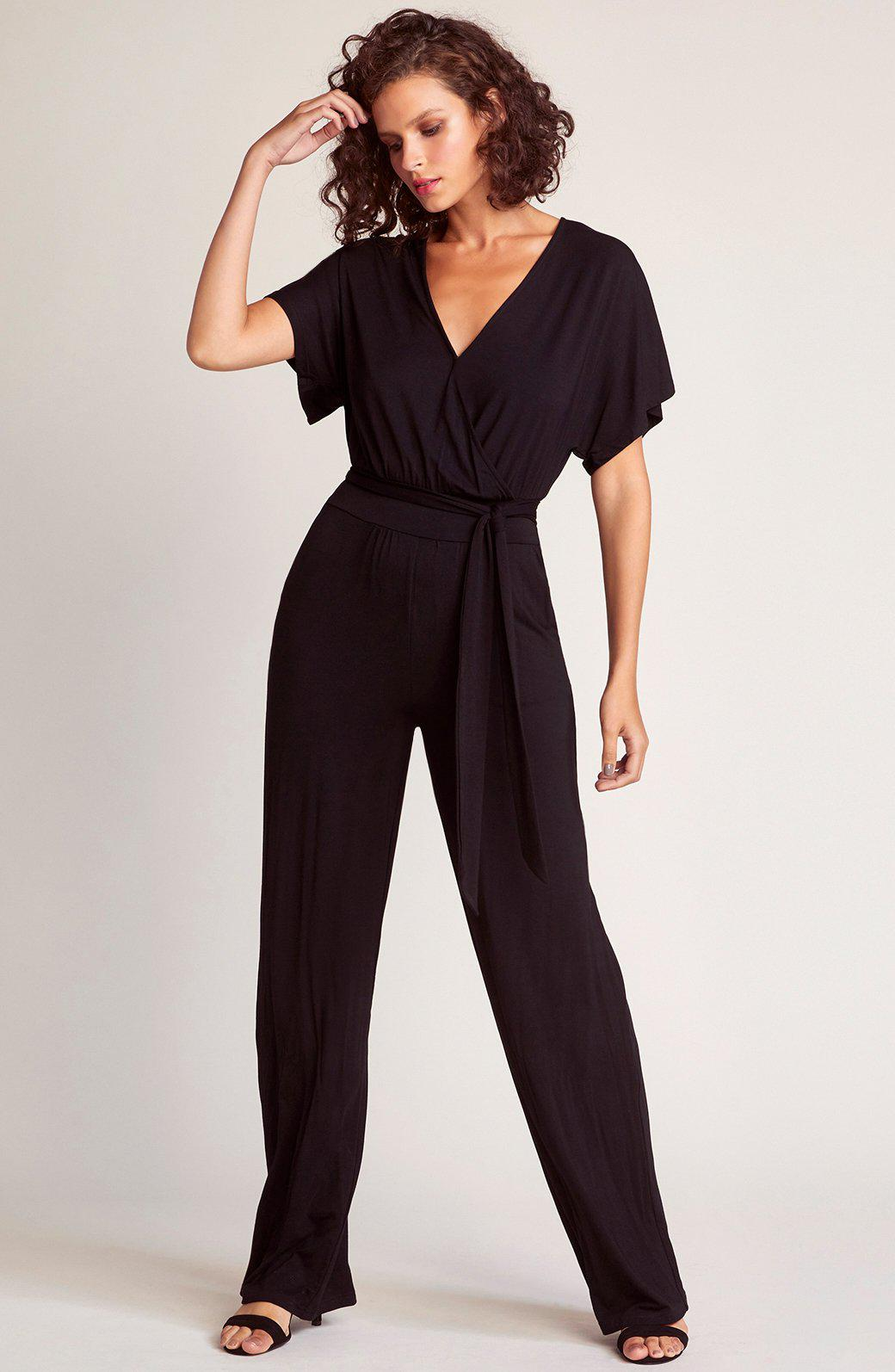 5cdbd0cf3b3 Lyst - Bb Dakota Hey Girl Hey Tie Front Jumpsuit in Black