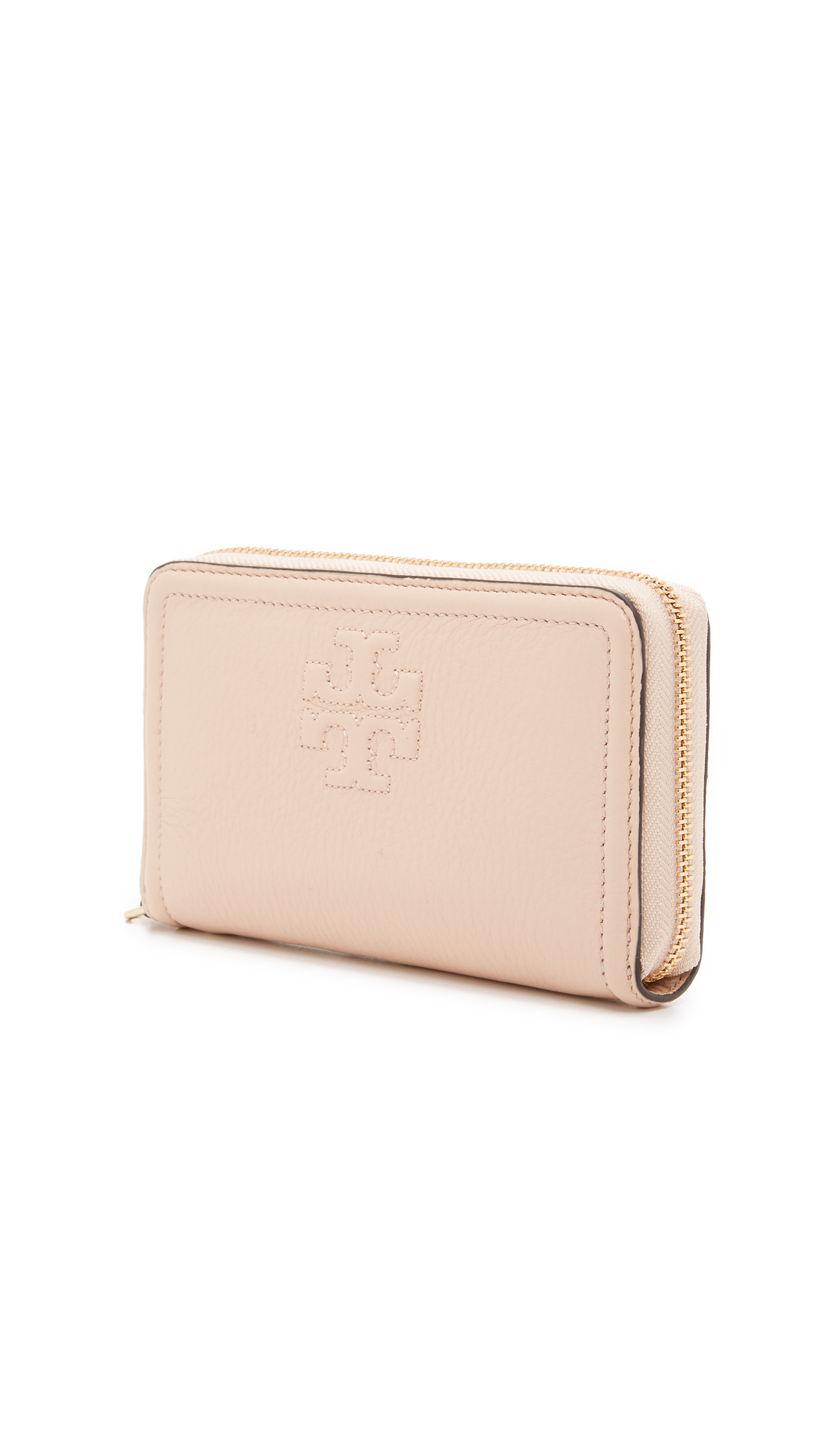 23d954cba3 Tory Burch Thea Zip Around Wristlet Wallet in Natural - Lyst