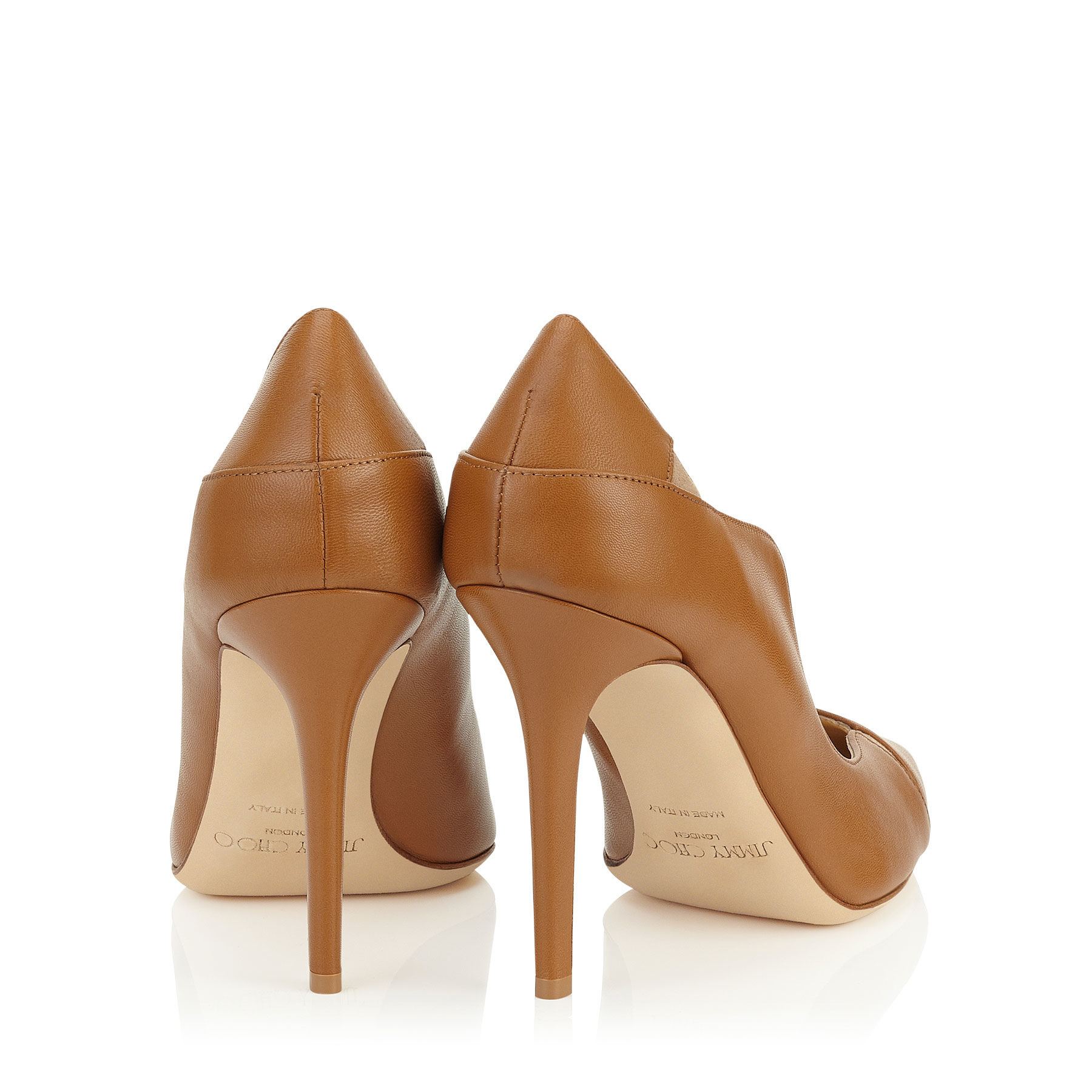 74e82b8214 Jimmy Choo Tamika 100 Canyon Kid Leather And Nude Suede Pointy Toe ...